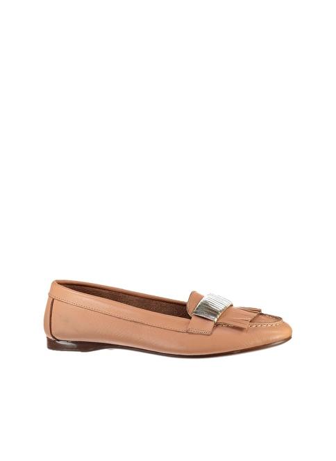 Elle Deri Loafer Ayakkabı Pudra